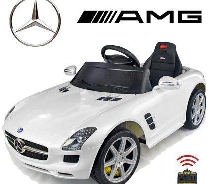 Original Mercedes-Benz SLS 6.3 AMG License – Coche con Motor y Batería de Coches para Niños con Control Remoto (blanco)