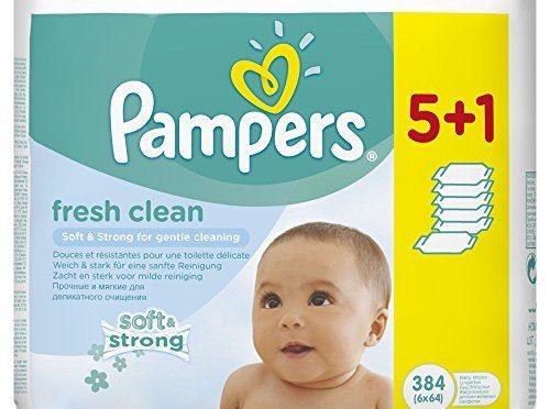 Pampers – Fresh Clean – Toallitas húmedas – 2 x 384 toallitas