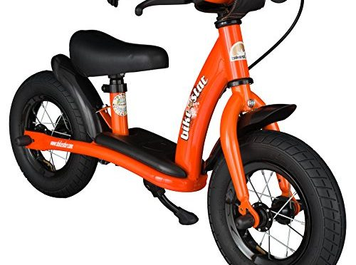 bike*star 25.4cm (10 pulgada) Bicicleta sin pedales para niños – Clásico – Naranja