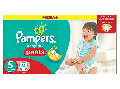 Pampers Baby-Dry Pants Pañales para Bebés, Talla 5 (12-18 kg) – 84 pañales