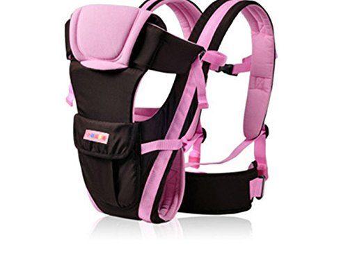 Uvistar Ajustable Mochila PortaBebes Infantil del Bebé Recién Nacido Portabebes Baby Carriers Backpack Comodo y Seguridad (Rosa con cinturón)
