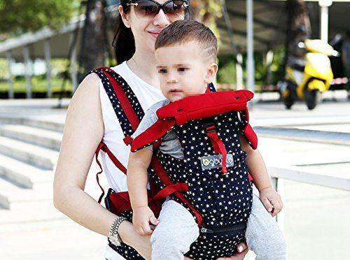 iRegro portabebés, réglables 4 positions Porte 3D Sac à dos Sac pochette Wrap doux Structured ergonomique Sling devant dos bébé Sling Carriers