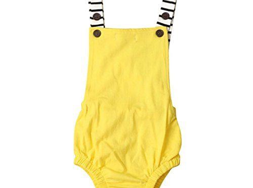 Bebé Mono SMARTLADY Verano Unisex Bodies Ropa para 0- 24 meses Niño Niña (12-18 meses, Amarillo)