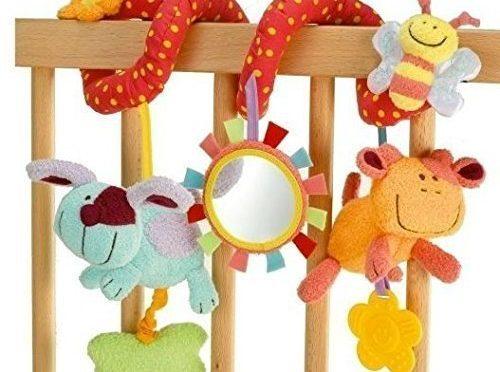 StillCool – Alta Calidad Juguetes Colgantes Espiral de Animales para Cuna Cochecito Carrito bebés niños niñas arrastrar-colorido