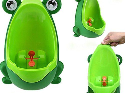 Hosaire Orinal,Orinal infantil de rana para niños/bebé de Color Verde / Naranja / Marrón