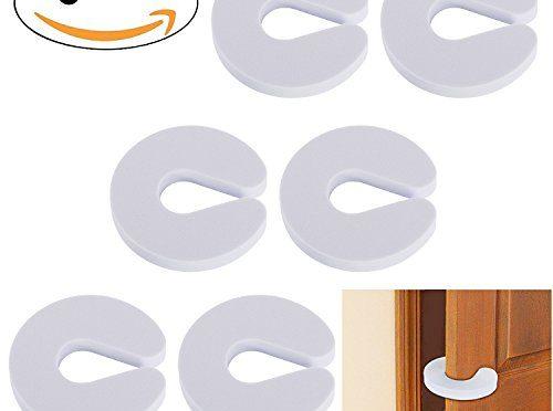 6pcs Tope Clip Protector Puerta Dedos Tapones de la puerta de la espuma para la seguridad dedos de los niños Seguridad Pa Bebé