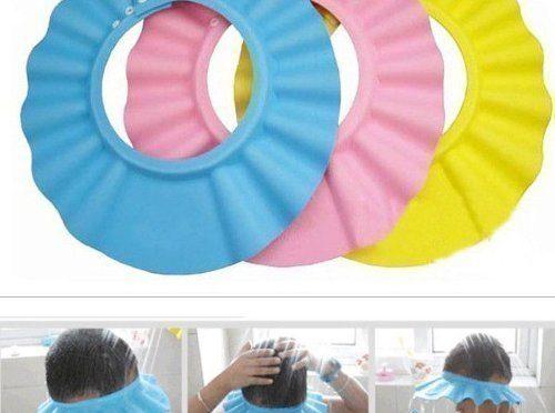 Gorro para Ducha/Baño Suave para Niños para Lavarse el Cabello sin Irritarse los Ojos – En 3 Colores – Amarillo