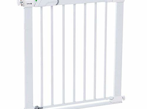 Safety 1st Easy Close – Barrera de puerta de seguridad, a presión, metálica, color blanco