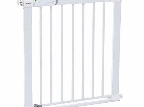 Safety 1st Easy Close – Barrera de puerta de seguridad, a presión, metálica, color blanco