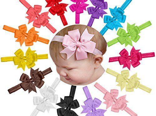 41b7801ef 15 Piezas Bebé Venda De Pelo De Arco Para Niñas Banda Para La Cabeza ...